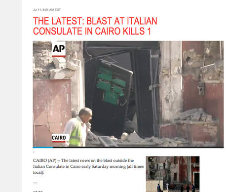 AP and The Latest: the now of news as the ultimate essential