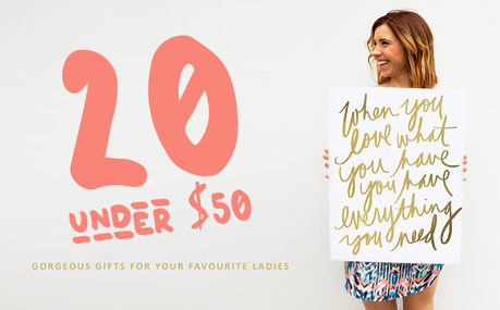 20 Gorgeous Etsy Gifts Under $50 For Your Favourite Ladies