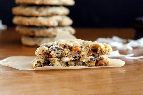 Caramel Coconut Chocolate Chunk Cookies