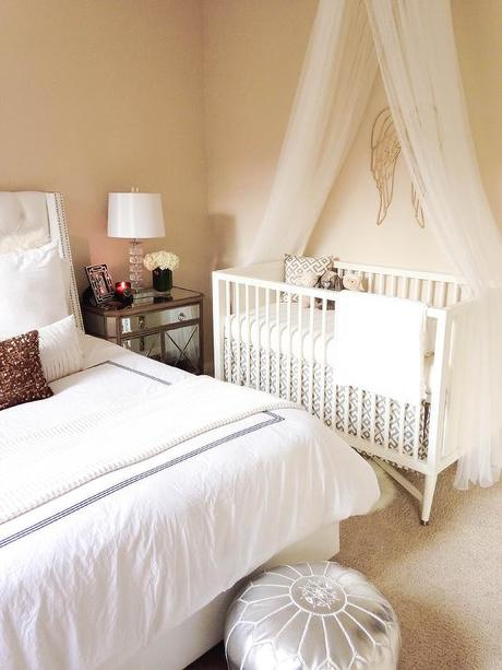 Nursery in the master bedroom room in with your baby in style paperblog Master bedroom shared with nursery