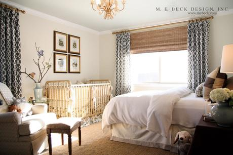 Nursery in the master bedroom room in with your baby in style paperblog Master bedroom with nursery ideas
