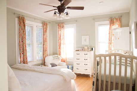 Nursery in the master bedroom room in with your baby in style paperblog Master bedroom with a crib
