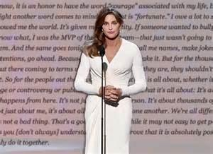 Jenner receives his/her courage award.