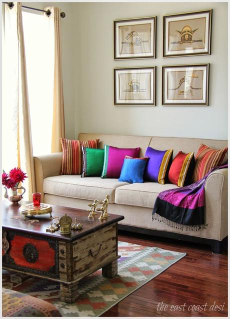 Drawing Room Sofa Designs India: Colorful Indian Homes