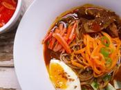 Naengmyun: Korean Cold Buckwheat Noodle Soup with Beef