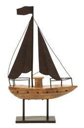 Benzara Nautical Theme Sailboat Decor With Waving Flag - 69894