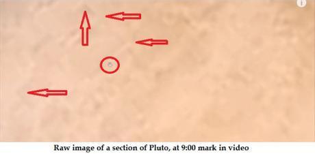 Pluto raw image 9.00