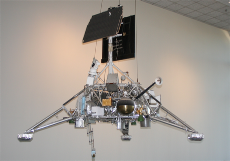 Surveyor lander on display at the National Air And Space Museum