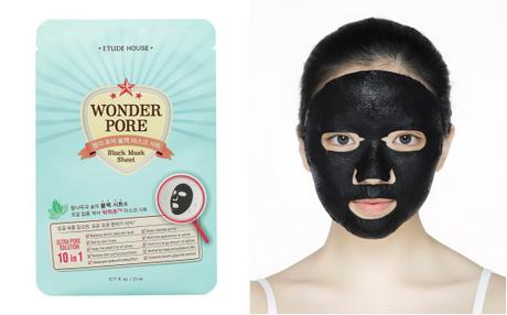 Etude House Wonder Pore Black Mask Sheet combined