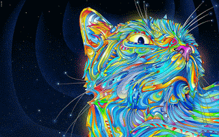 trippy psychedelic background wallpaper 1