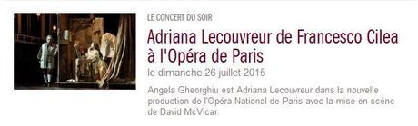 Adriana L. from Paris, broadcast on France Musique, July 26