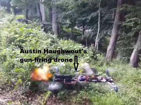 gun-firing drone