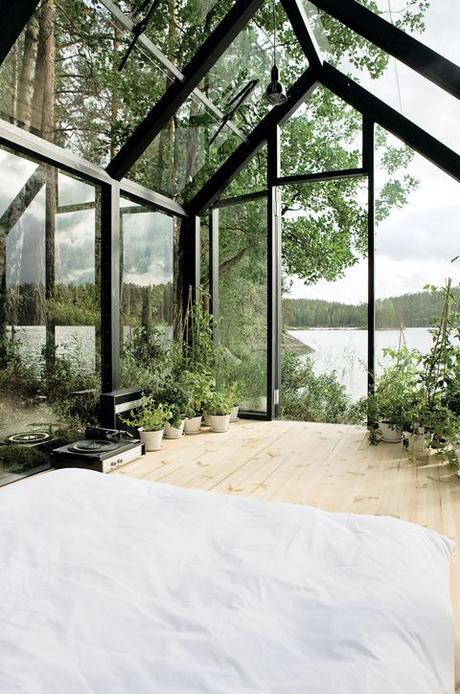 Helsinki architect Ville Hara and designer Linda Bergroth collaborated on a prefab shed-meets-sleeping-cabin, which can be assembled with little else than a screwdriver. Bergroth, inspired by nomadic yurt-dwellers, wanted an indoor/outdoor experience for her property in Finland.