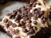 Gooey Chocolate Chip Cream Cheese Brownies {Vegan}