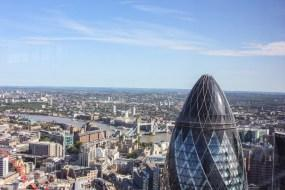 duck and waffle - view from the top