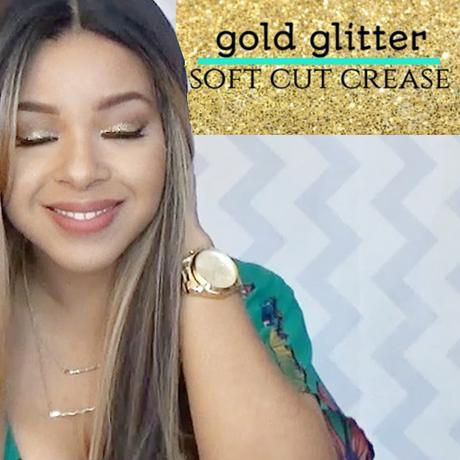 Gold Glitter Soft Cut Crease Tutorial | Easy For Beginners
