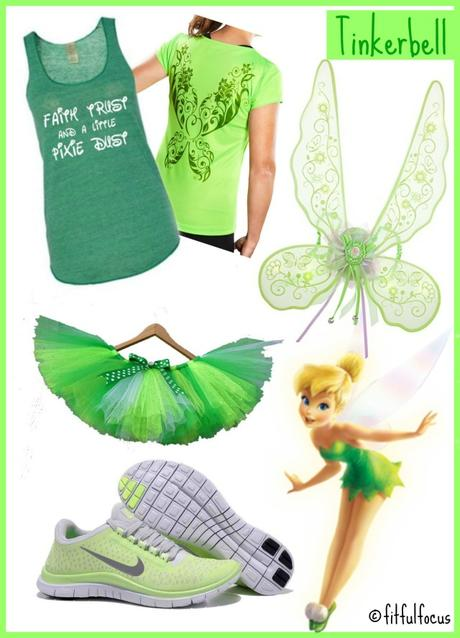 RunDisney, Tinkerbell, Running Outfit, Peter Pan