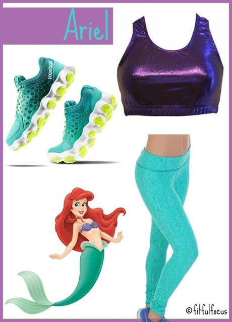 The Little Mermaid, Ariel, Running Costume, RunDisney