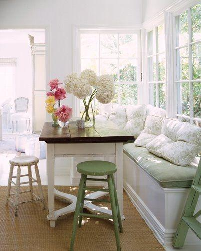 Have You Ever Wanted a Kitchen Booth Eating Nook?  :-)