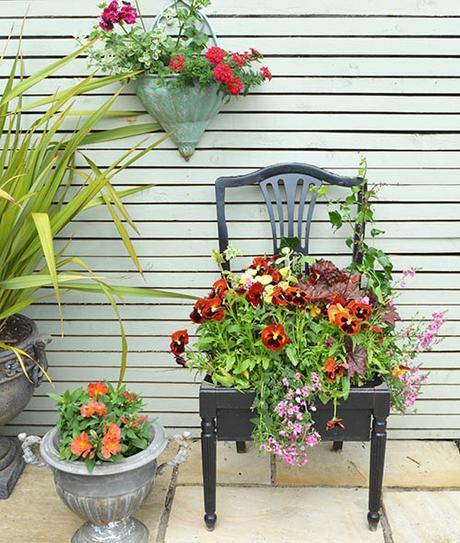 How to Make a Chair Planter- MiaFleur
