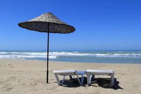 Umbrella on Patara Beach, Turkey