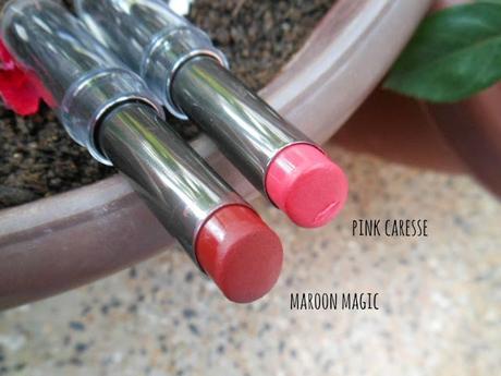 Lakme Absolute Sculpt Studio Hi-Definition Matte Lipsticks : Pink Caresse, Maroon Magic (Review)
