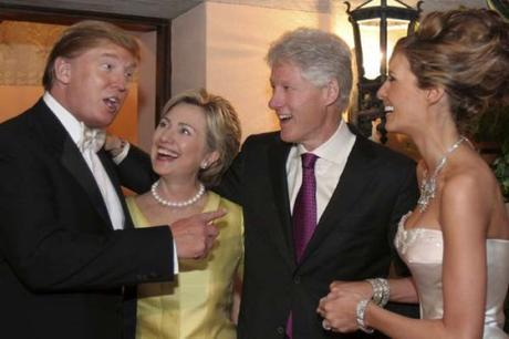 Donald Trump with the Clintons