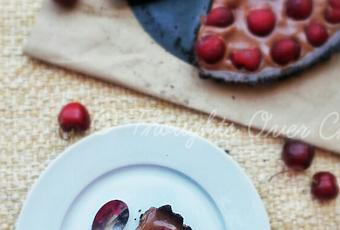 No-bake Cherry Tart with Oreo Base