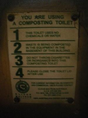The composting toilet at Paddy's Rest