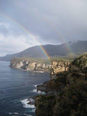 It's a double rainbow at the Devil's Kitchen.