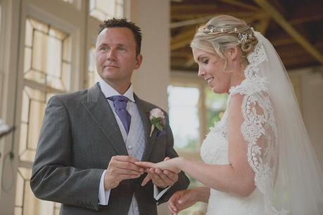 Highcliffe Castle Wedding - exchanging rings