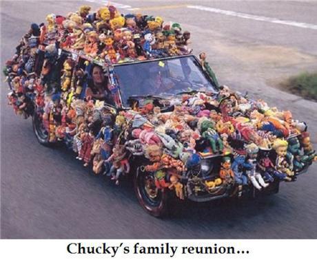 car with dolls