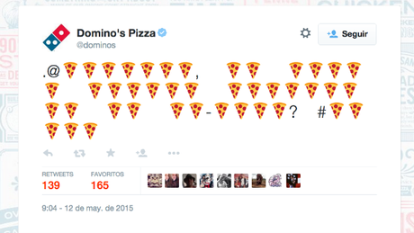 What are you trying to emoji to us, Dominos?