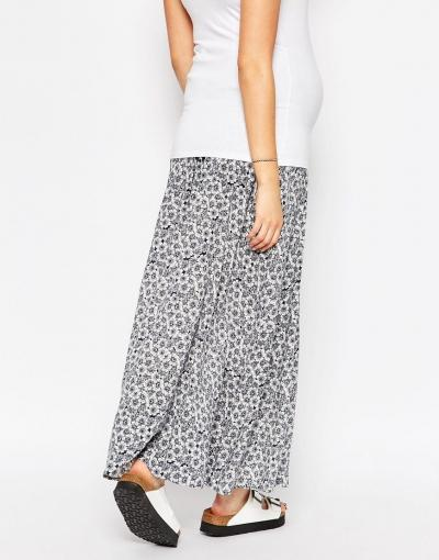 New Look Maternity Floral Maxi Skirt