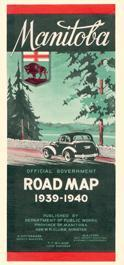 Manitoba Historical Maps - Manitoba Road map 1939