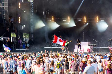 Crowd Canadian Flag St. Vincent WayHome Art and Music Festival