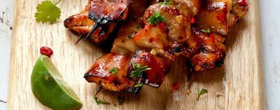 Turkey Kebabs with Cranberry Glaze