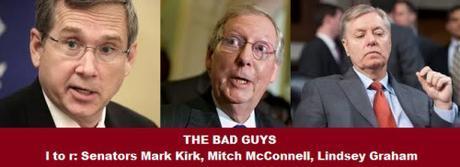Mark Kirk, Mitch McConnell, Lindsey Graham