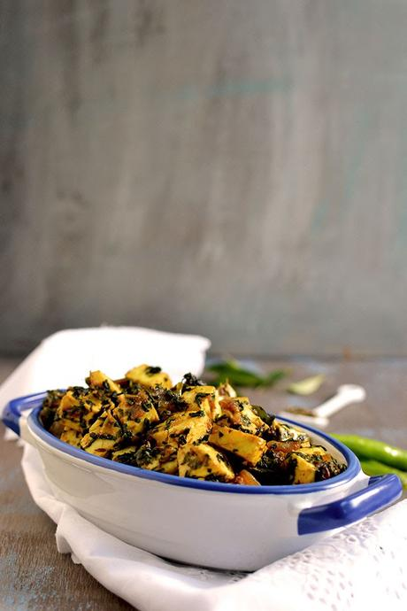 how to cook methi leaves curry