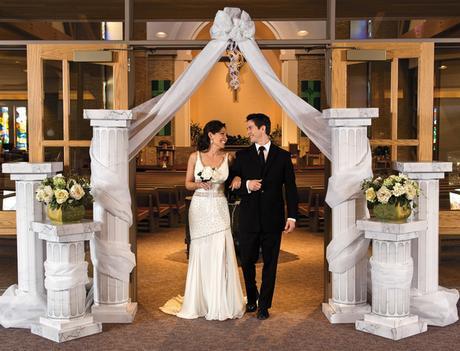 wedding pilars