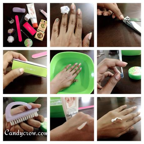 Step by step manicures