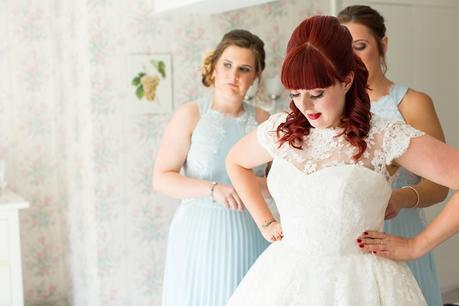 Barmbyfield Barn Wedding Photography Bride Preparation