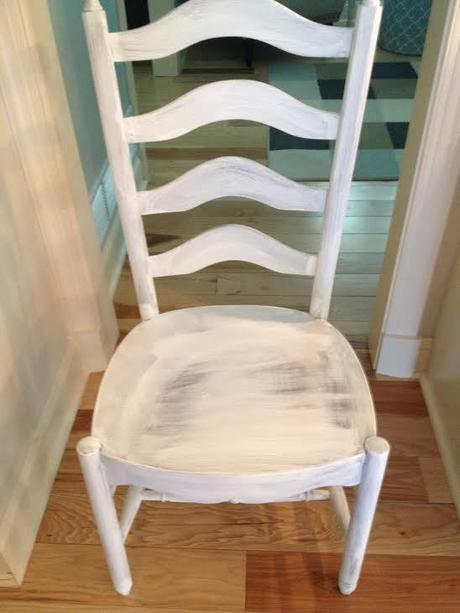 This is what one coat looks like on the chair.