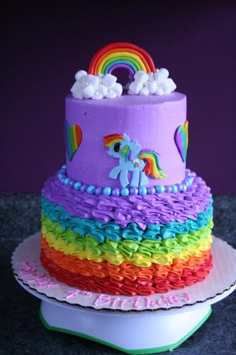 my little pony cakes part one rainbow dash paperblog