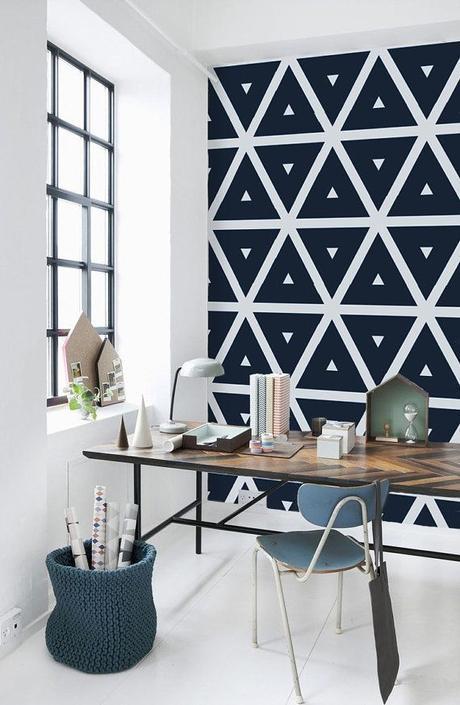 Geometric Pattern Self Adhesive Vinyl Wallpaper Z036