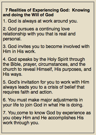 Blackaby's Experiencing God: if we're to find out where God is at work and join Him there, then where is God NOT working?