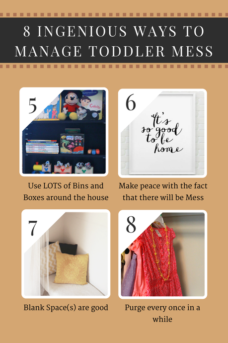 8 Ingenious ways to manage Toddler Mess