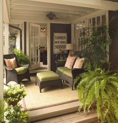 greenery on a porch