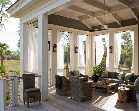 breezy curtains on outdoor porch