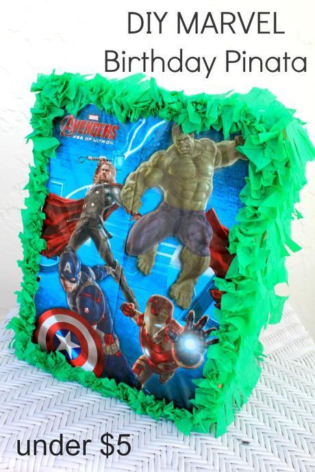 diy marvel avengers birthday pinata  under  5